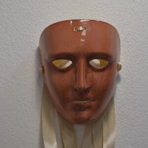 Maschera Sartiglia Color Ruggine Prodotta Artigianalmente Da Ceramiche Manis