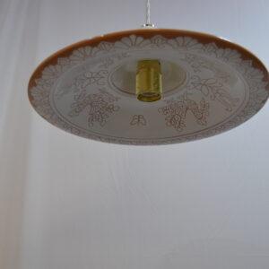 Lampadario In Ceramica Con Decoro Pavoncella Da Cm 40 Di Farci Andrea