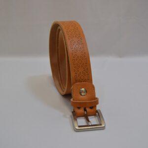 Cintura In Pelle Con Decori