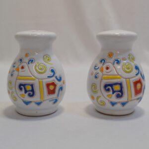 Set Sale E Pepe In Ceramica Con Decoro Pavoncella Ceramiche Loddo