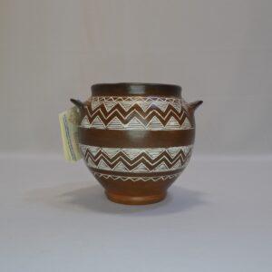 Vasetto Campaniforme In Ceramica Sarda Villa Abbas