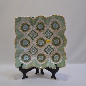 Piatto In Ceramica E Oro Zecchino Di Sanfilippo
