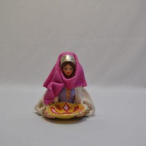 Busto Donna Con L'abito Tradizionale Sardo Ceramiche Sanfilippo