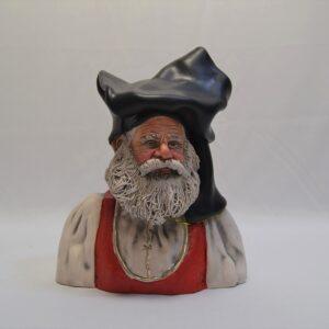 Busto Uomo Con L'abito Tradizionale Sardo Ceramiche Sanfilippo