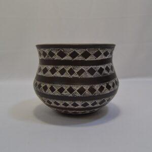 Vaso/ Bicchiere Campaniforme In Ceramica Artistica Sarda Villa Abbas